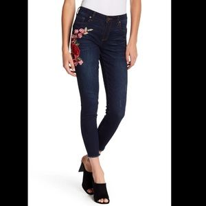KUT From The Kloth Donna Skinny Ankle Floral Jeans